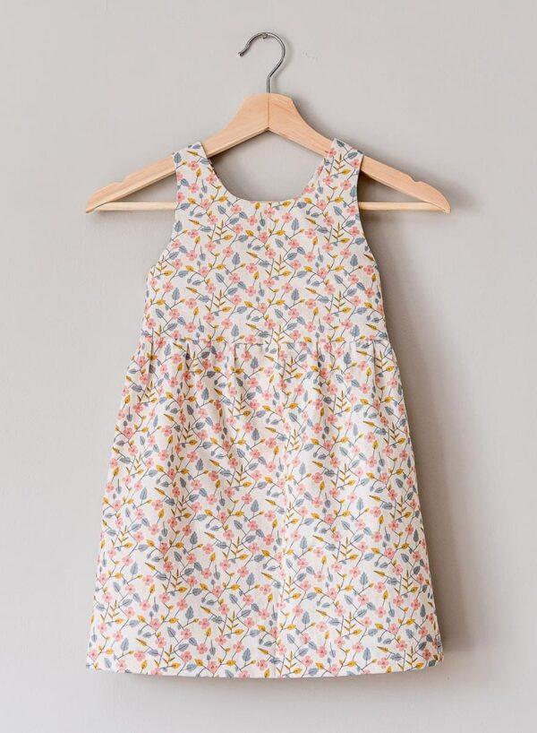 retro pink flower dress