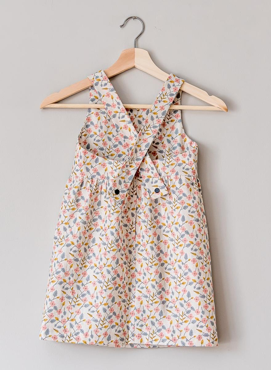 retro pink flower dress