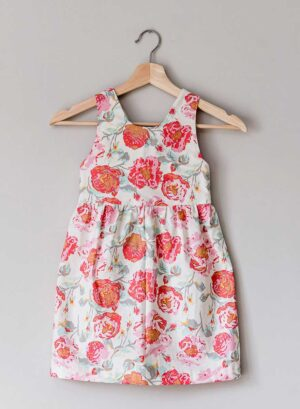 The Charlie Dress, pink rose and cream